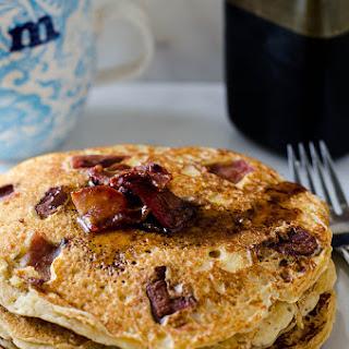 Whole Wheat Bacon Buttermilk Pancakes