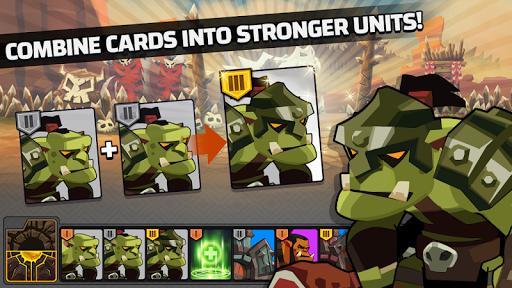 The Wonder Stone: Card Merge Defense Strategy Game 2.0.22 screenshots 3