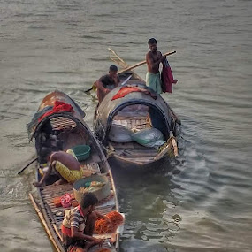 At the end of my journey.  Location- Outram Ghat  Kolkata  West Bengal  India   by Sumita Mehera - People Professional People