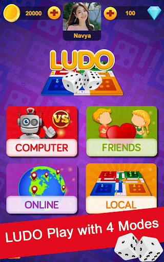 Code Triche Ludo Game : Free Multiplayer Ludo, The Dice Game APK Mod screenshots 1