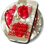 Cute Petals Heart Keyboard Icon
