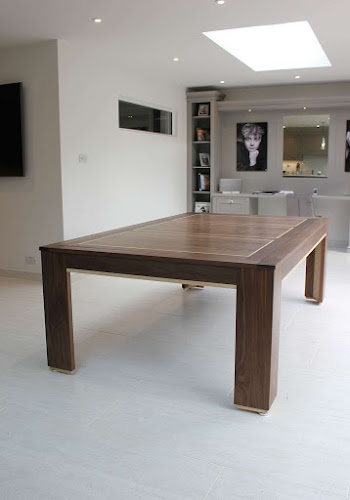 Pool Diner Table - Dark wood