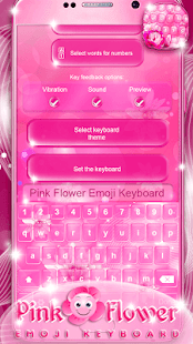 Pink flower emoji keyboard apps on google play screenshot image mightylinksfo
