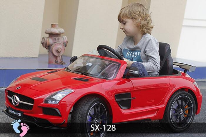 Xe hơi điện trẻ em SX-128 ghế da 12