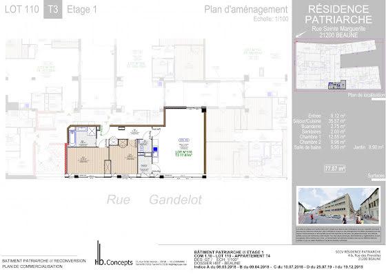 Vente appartement 3 pièces 77,87 m2