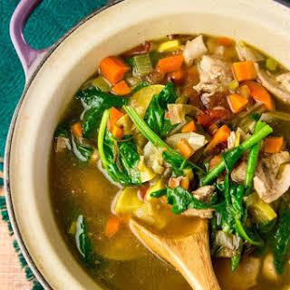 Lemony Garden Vegetable & Chicken Soup.