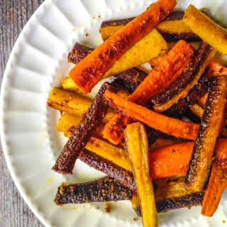 Colorful Curried Carrots Side Dish.