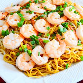 Chengdu Style Noodles with Coconut Lime Shrimp.