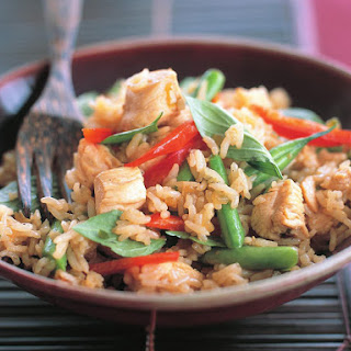Chicken and Thai Basil Fried Rice.