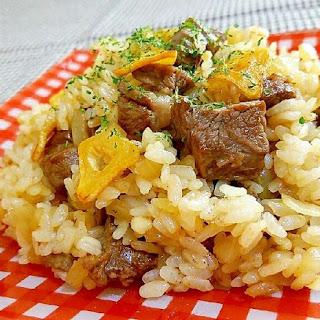 Garlic Rice with Steak