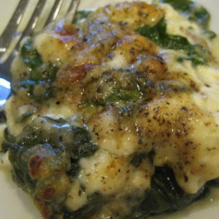 Easy Layered Creamed Spinach.
