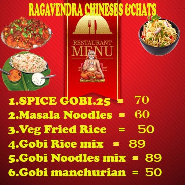 Ragavendra Chinese And Chats menu 2