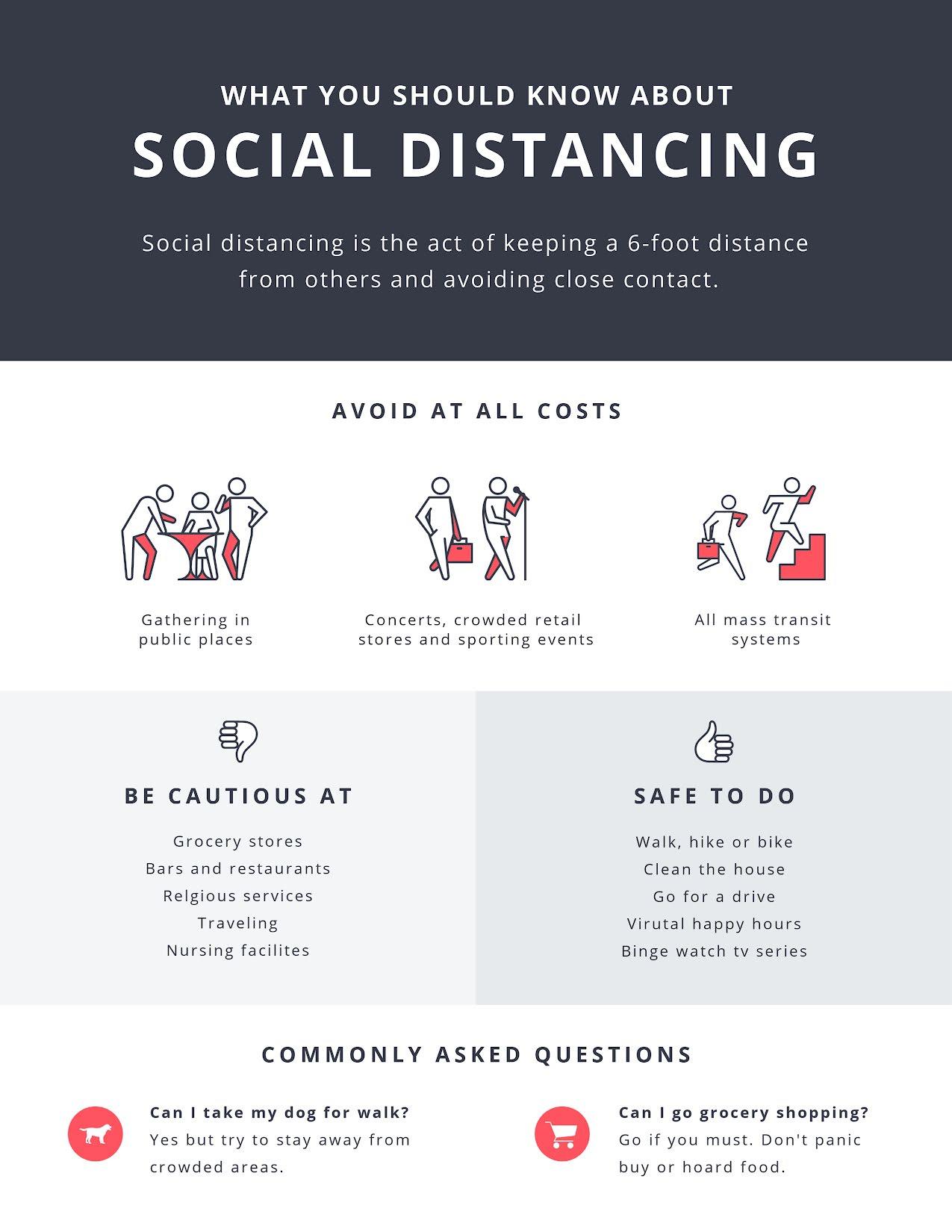 Social Distancing - Flyer Template