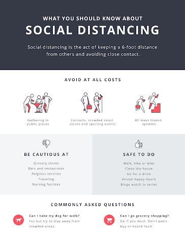 Social Distancing - Quarantine & COVID-19 Template