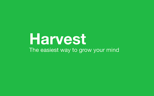 Harvest: Take Notes and Learn Passively