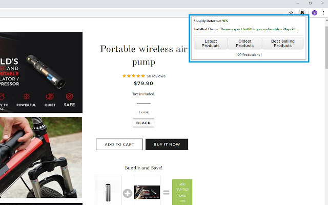 DP Analizar - Shopify Product Revealer