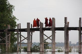Photo: Year 2 Day 55 - Monks on U Bein's Bridge
