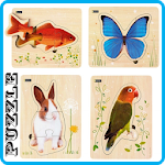15 Puzzle Animals Icon