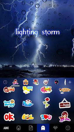 Lighting Storm Kika Keyboard 45.0 screenshot 1272120