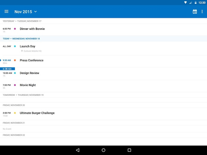 Screenshot 14 for Outlook Mail's Android app'