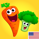 Funny Food! Educational games for kids 3 years old icon