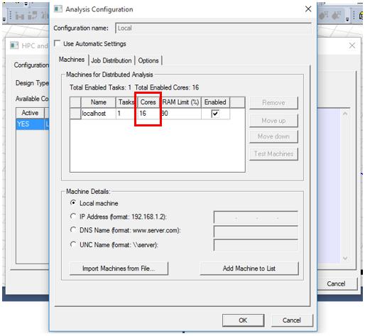 ANSYS Electronics Desktop/HFSS/Maxwell - Укажите количество задач и ядер