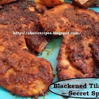 Blackened Tilapia With Secret Spices.