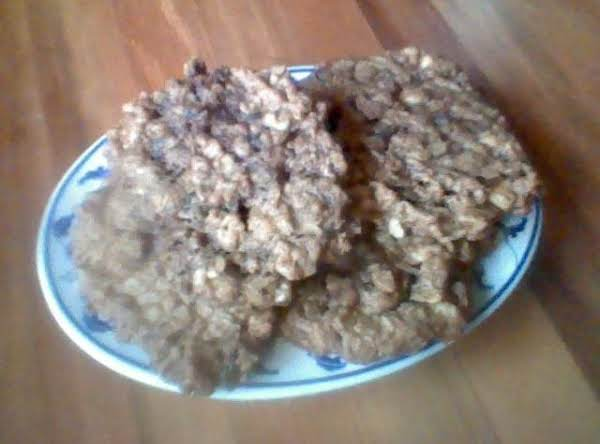 The Picture Is A Bit Blurry, But That's 3 Large [yummy] Bakery Sized Cookies On The Plate!