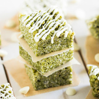 Healthy Matcha Green Tea Krispy Treats Recipe