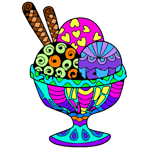 Ice Cream Color By Number Food Coloring Pages