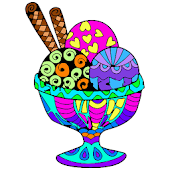Ice Cream Color by Number - Food Coloring Pages