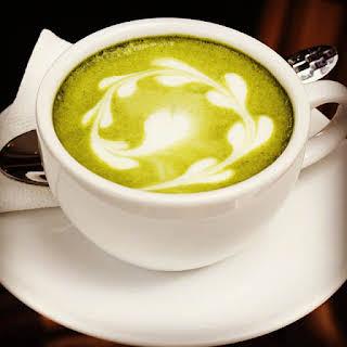 Classic Hot Matcha Green Tea Latte.