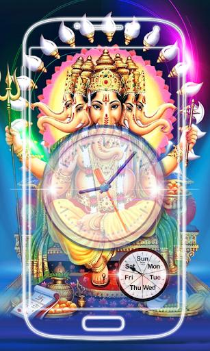 Ganesh Clock Live Wallpaper screenshot 2