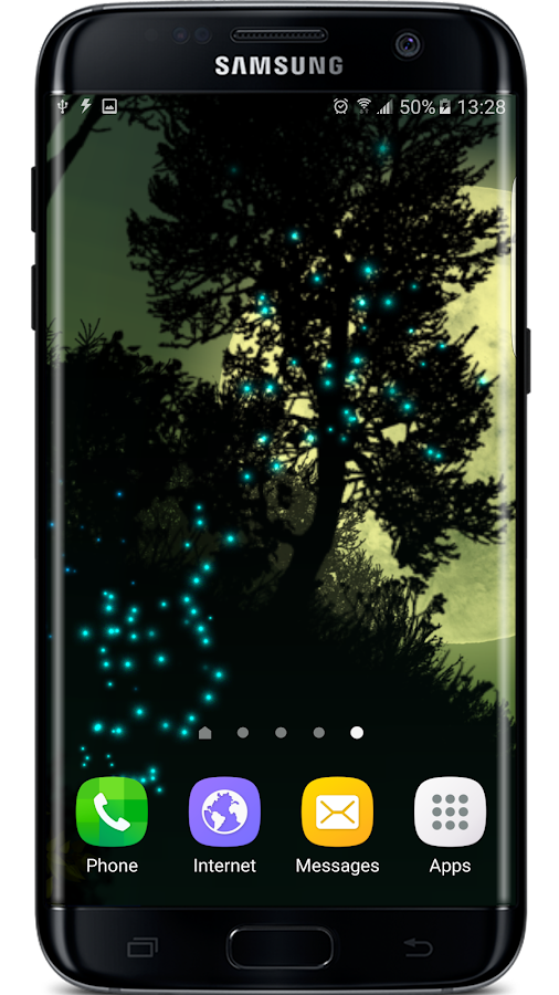 Parallax 3d Effect Wallpaper Pro Firefly Forest Live Wallpaper Android Apps On Google Play