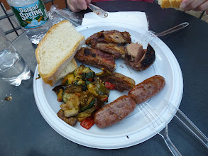 """Photo: This is our """"first"""" plate from the festival."""