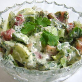 Cubed Salad In Hung Curd & Coriander Salad