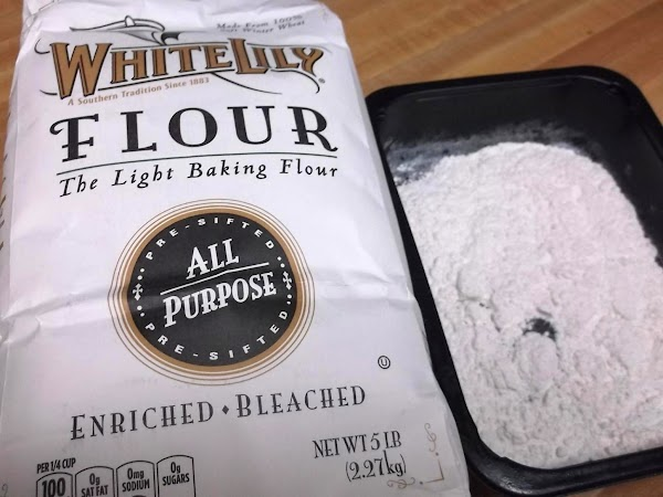 Working with one patty at a time, place patty in flour mixture; turn to...