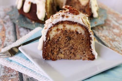"""Hummingbird Bundt Cake With Cream Cheese Filling""""As much as I love this..."""