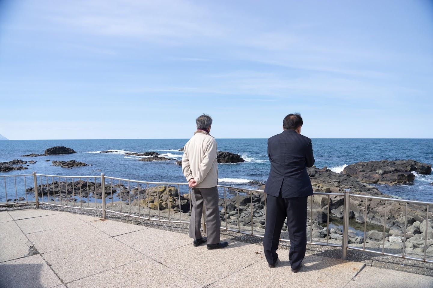 黄金岬(留萌市)にて
