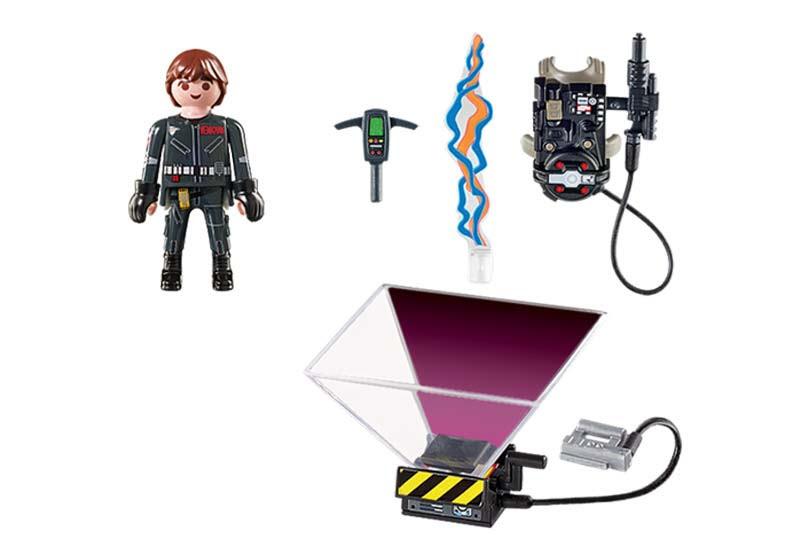 Contenido real de Playmobil® 9347 Cazafantasmas Peter Venkman