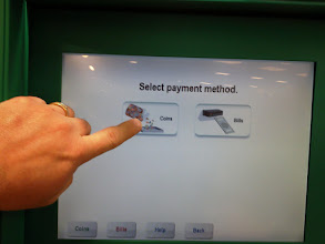 Photo: I didn't know the Coinstar machine would take bills.
