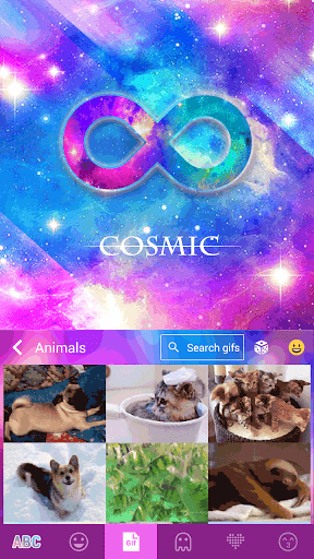 玩免費個人化APP|下載Cosmic Star Emoji KikaKeyboard app不用錢|硬是要APP