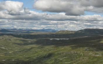 Photo: Norra Borgafjällen västerut