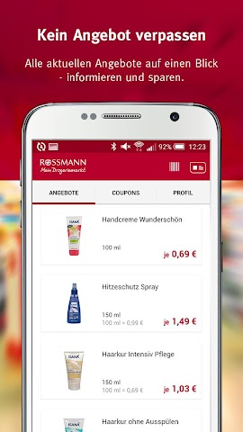 android Rossmann - Coupons & Angebote Screenshot 1