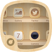 Wooden Style - Solo Launcher Theme