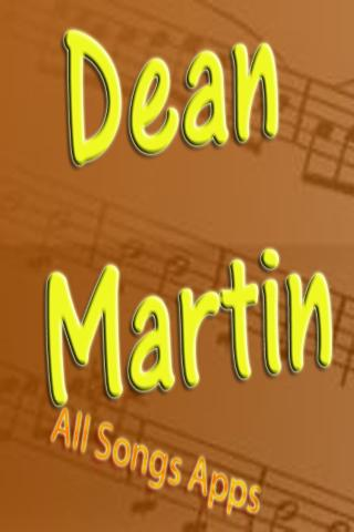 All Songs of Dean Martin
