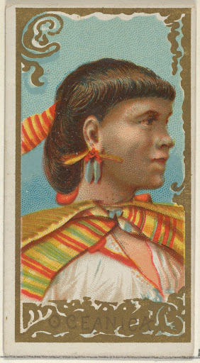 Oceanica, from the Types of All Nations series (N24) for Allen & Ginter Cigarettes