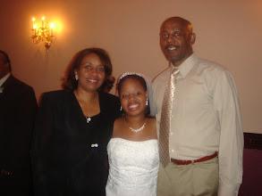 Photo: Tanesha with Leonard & Linda