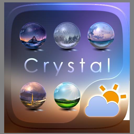 Crystal GO Weather Widget Theme