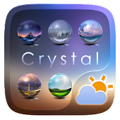 Crystal GO Weather Widget Theme